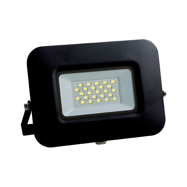 LED-Fluter, 20 W, 1700 lm, slim, schwarz, IP65