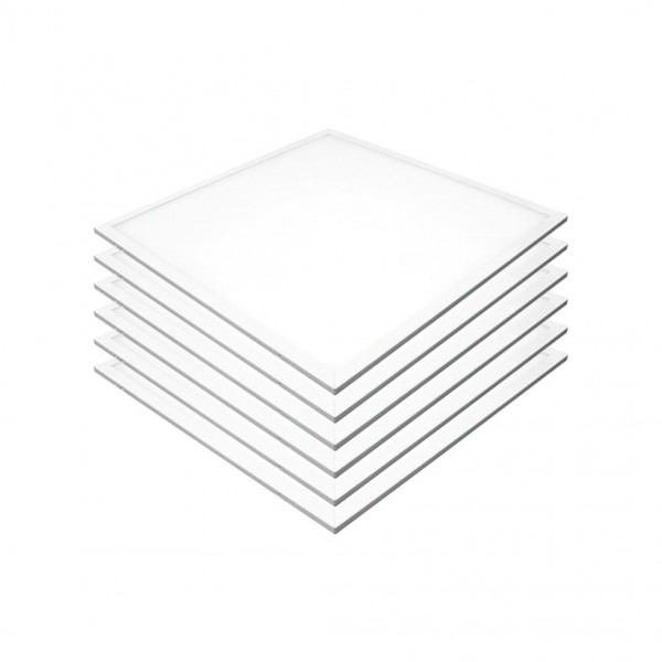 6er-Pack LED-Panel 60x60 cm, CRI95, 45 W, 4500 K, 3600 lm, flimmerfrei