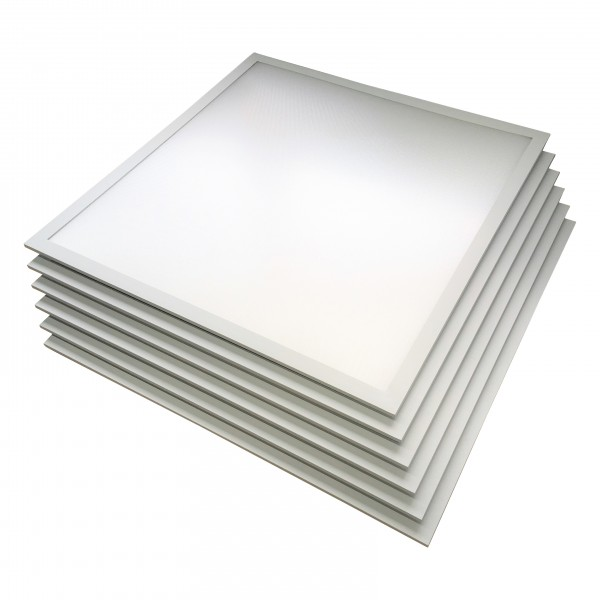 6er-Pack, LED-Panel 62x62 cm, CRI95, 45 W, 4500 K, 3600 lm, flimmerfrei