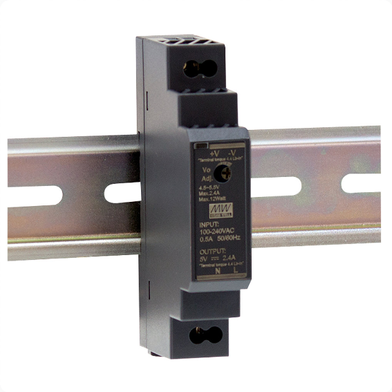 HDR-15 Serie, DIN-Hutschienennetzteil, 15 W, Single-Out, MeanWell, 12 V