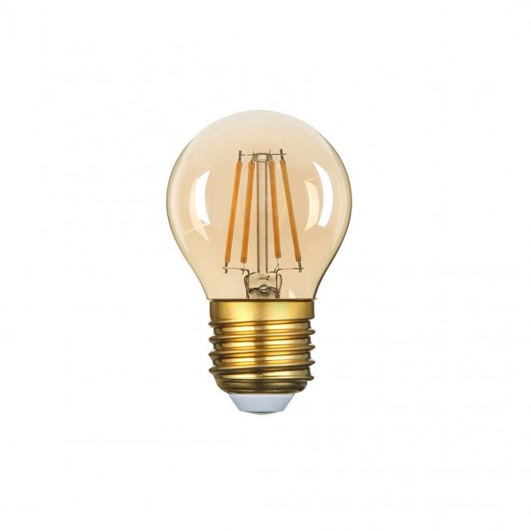 LED Filament Leuchtmittel, Golden Glass, 4 W, 320 lm, warmweiß (2700K) , dimmbar