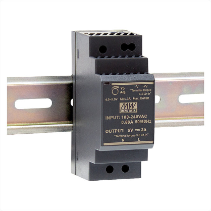 HDR-30 Serie, DIN-Hutschienennetzteil, 30 W, Single-Out, MeanWell