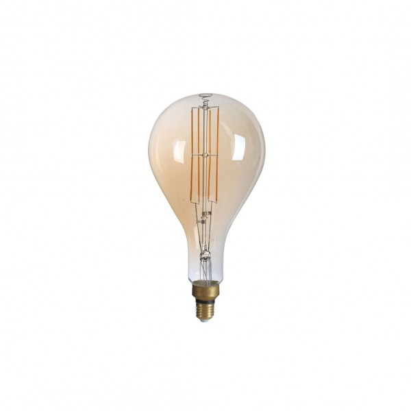 LED Filament, Vintage Lampe, PS160, gold, E 27, groß, Ø 160 mm, 8 W, 810 lm, dimmbar