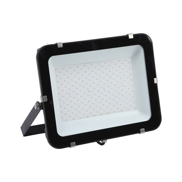 LED-Fluter, 200 W, 24000 lm, slim, schwarz, IP65