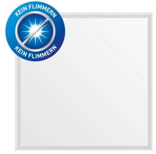 LED-Panel 62x62x9 mm, CRI 90, 40 W, 3000 K, 3600 lm, flimmerfrei