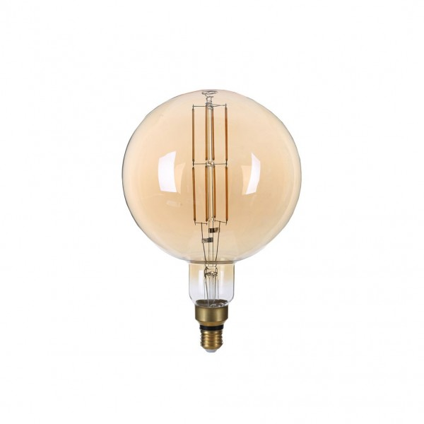 LED Filament, Vintage Lampe, G200, gold, E27, groß, Ø 200 mm, 8 W, 810 lm, dimmbar
